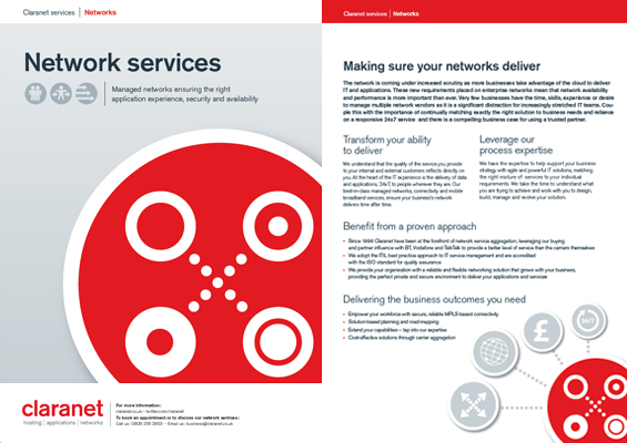 Claranet Network services brochure