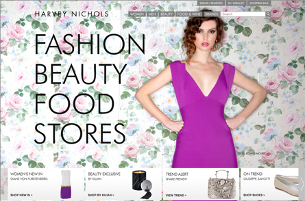 Harvey Nichols's website