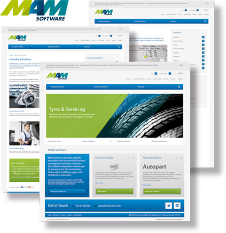 MAM Software website image